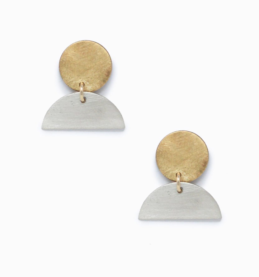 Mini Cleo Earrings Brass