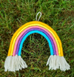 Five Strand Woven Rainbow Wall Hanging