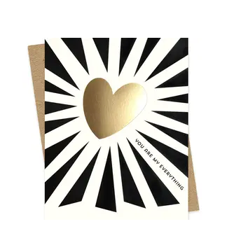 Everything Heart Foil Stamped Love Card