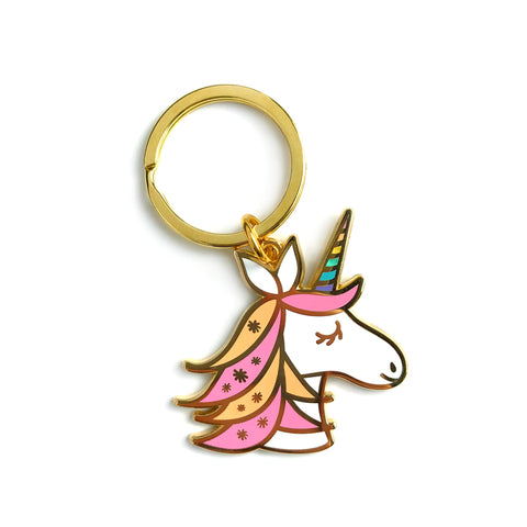 Unicorn Enamel Key Chain