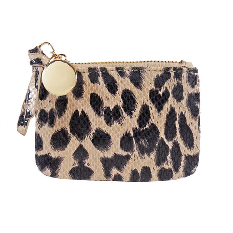 Leopard Embossed Coin Purse