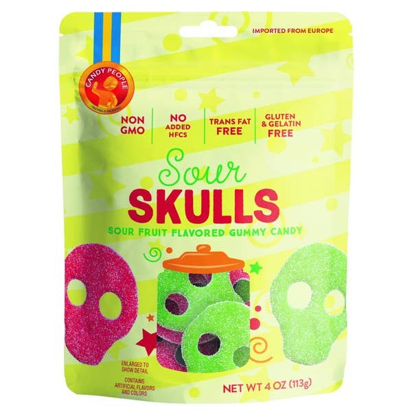 Sour Skulls Gummy Candy