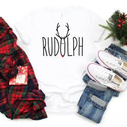 Christmas Graphic Shirt- Rudolph