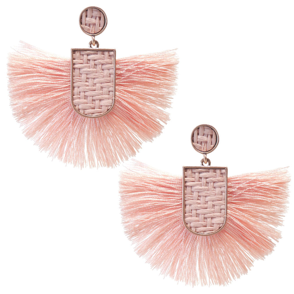 Big Fan Tassel Earrings