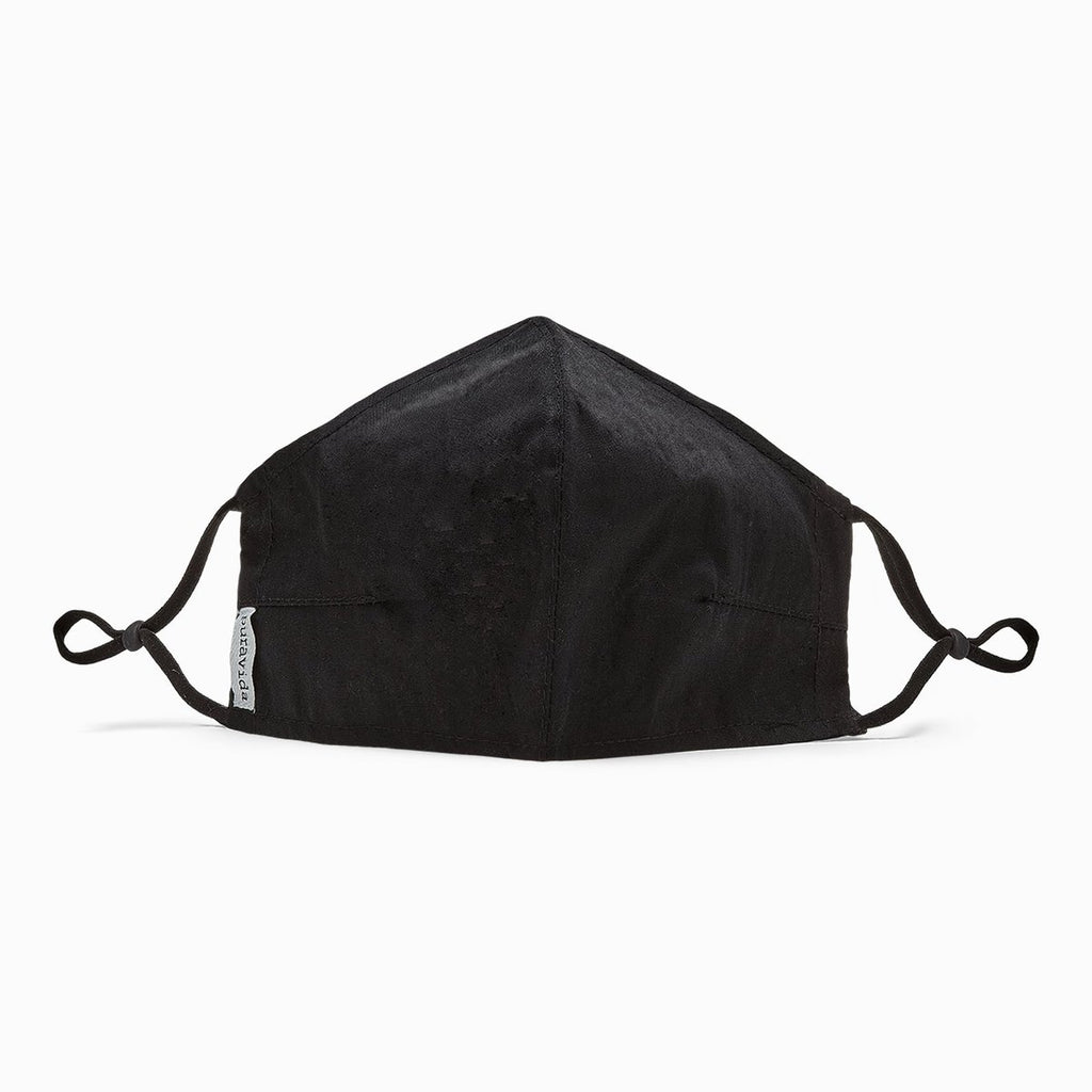 Pura Vida Solid Black Face Mask