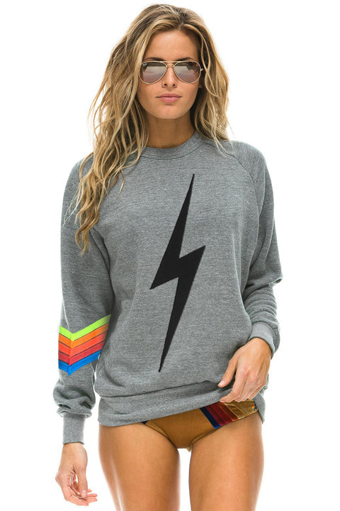 Aviator Nation Bolt Stitch Chevron Crew Sweatshirt