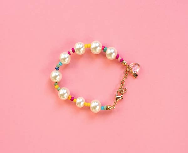 Faux Alternate Pearl Bracelet