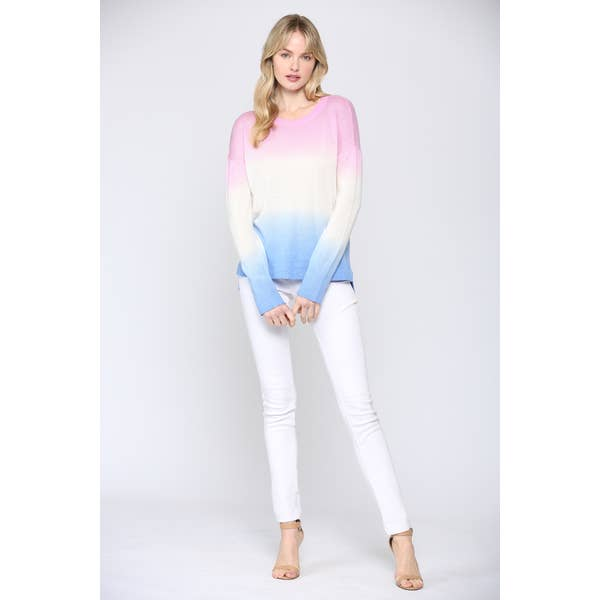Dipped Tie Dye Cashmere Sweater