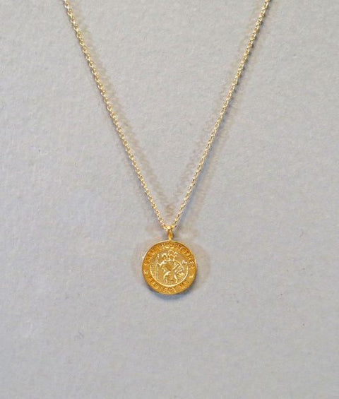St. Christopher Coin Necklace