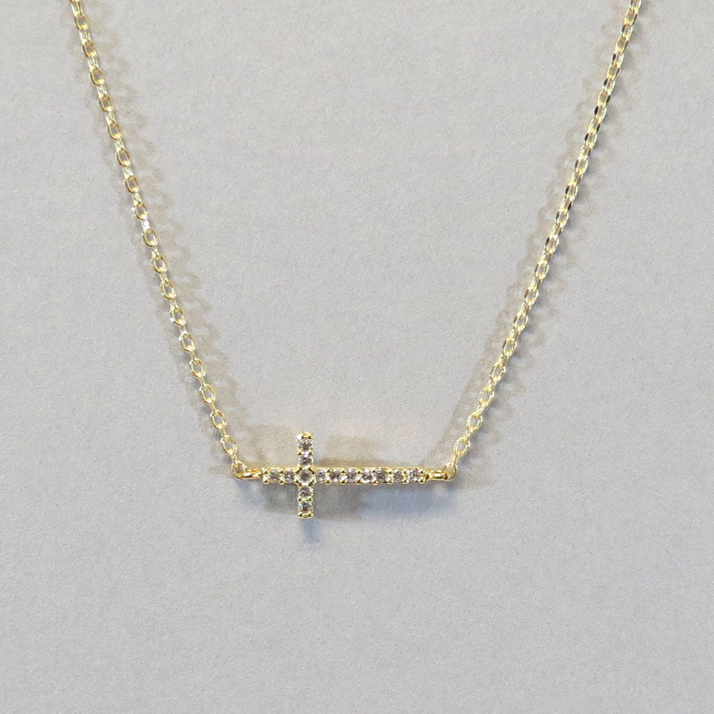 18K Cross Necklace