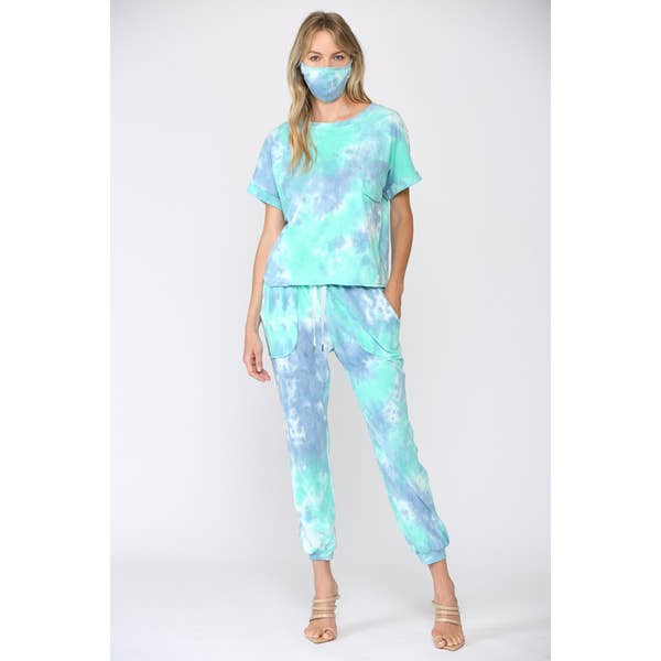 3 Piece Tie Dye Lounge Set