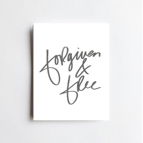 Forgiven and Free Art Print