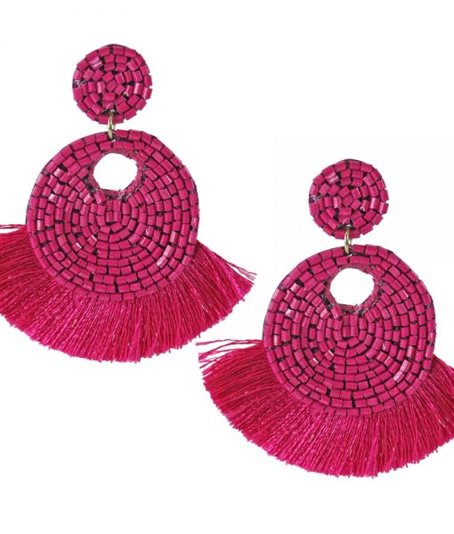 Bidi Bidi Bom Bom  Fringe Earrings