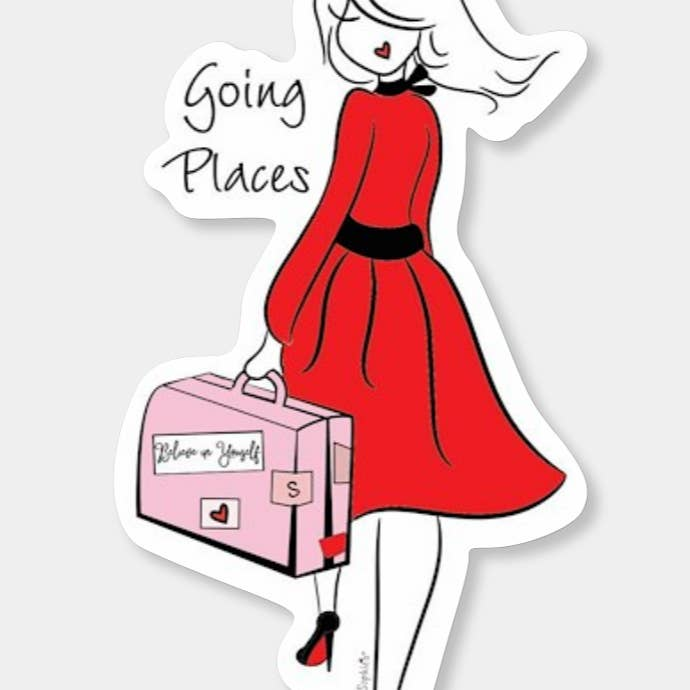 Going Places Sticker