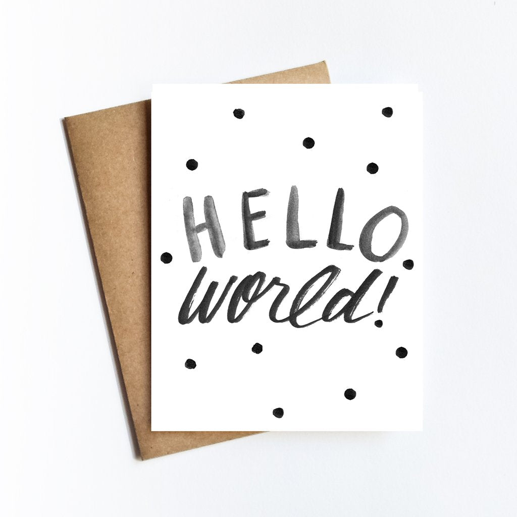 Hello World Greeting Card