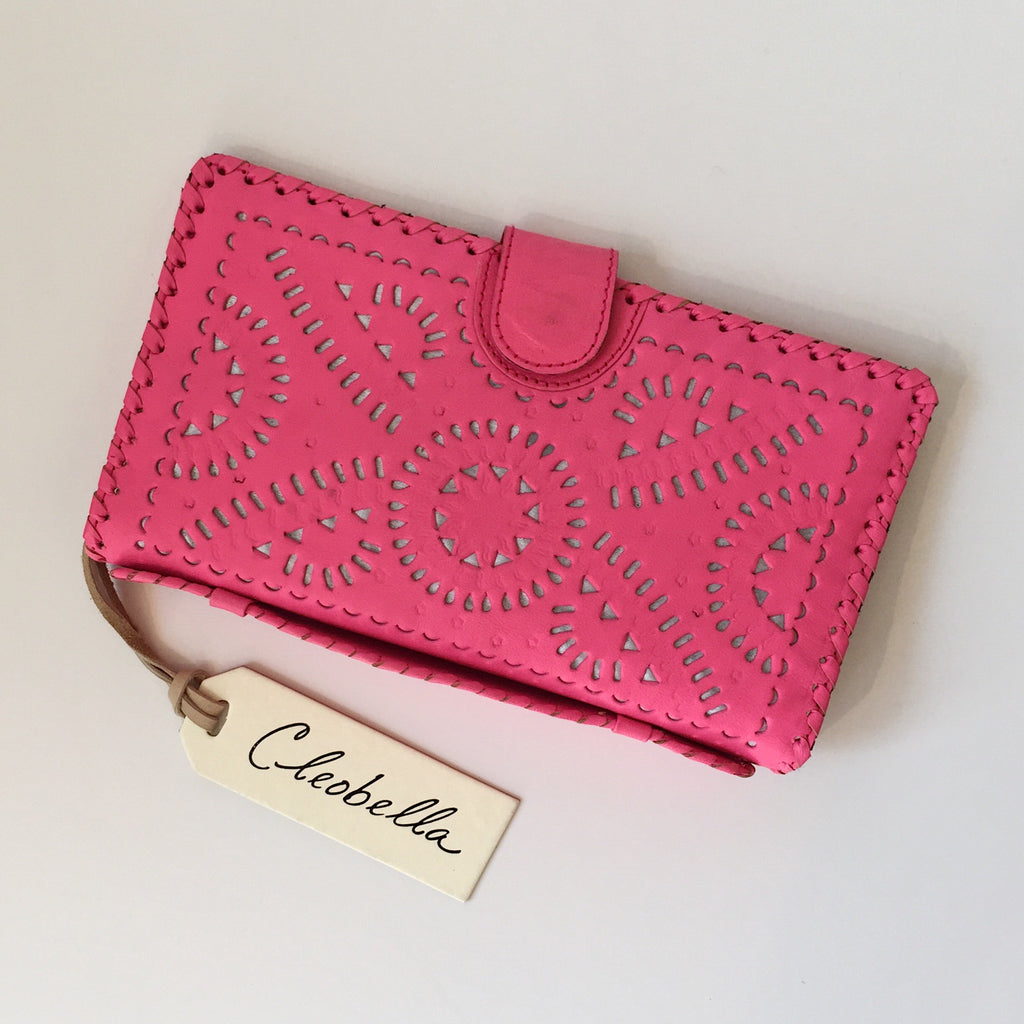 Cleobella Mexicana Painted Clutch