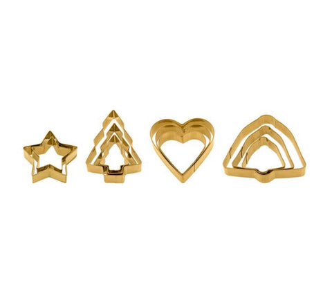 Cookie Cutters- Gold Set of 12