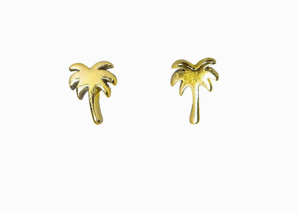 Pura Vida Palm Tree Earrings gold
