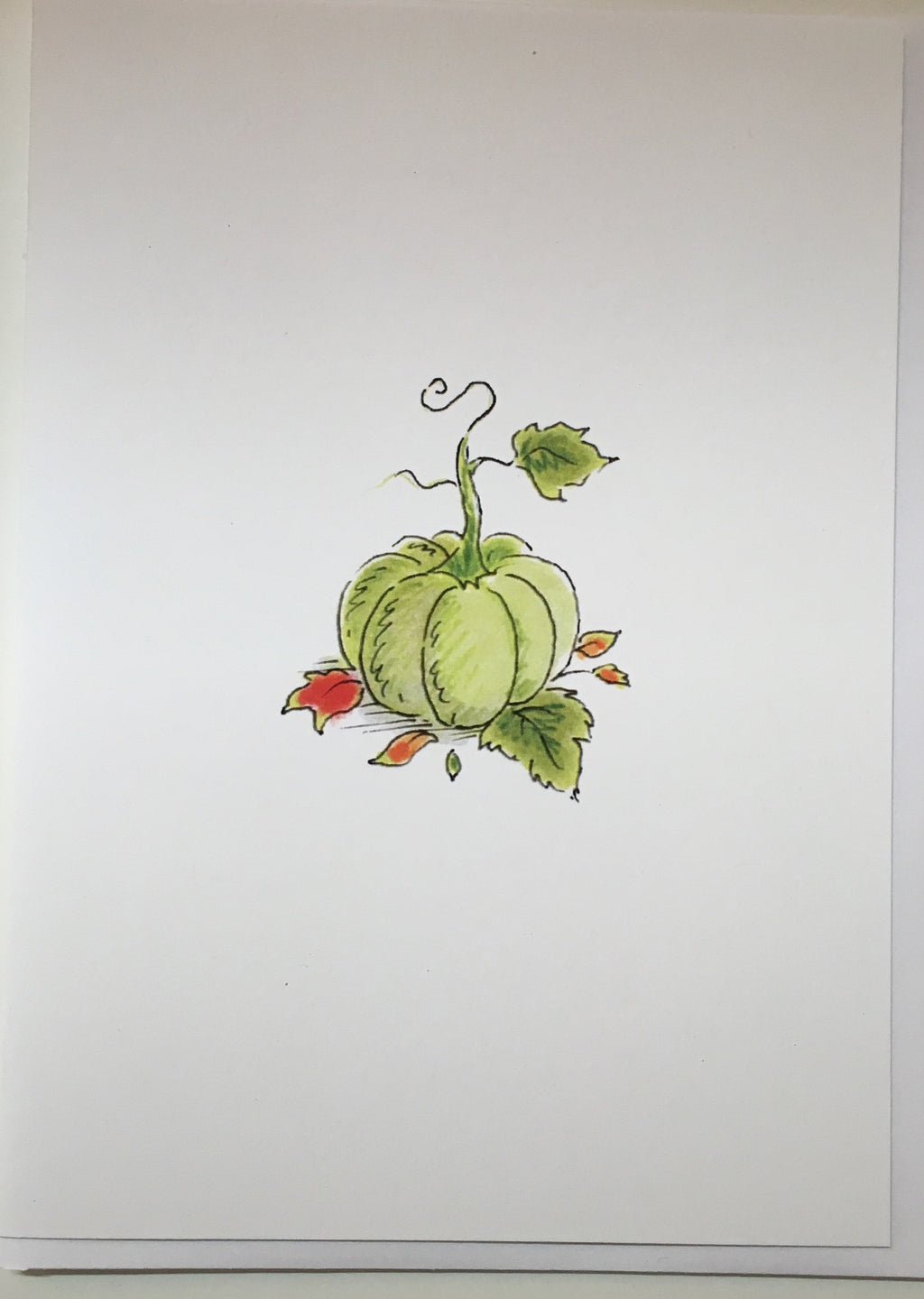 John Walsh Green pumpkin card