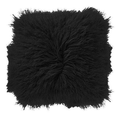 "Mongolian Lamb Fur Pillow 16"" Square"