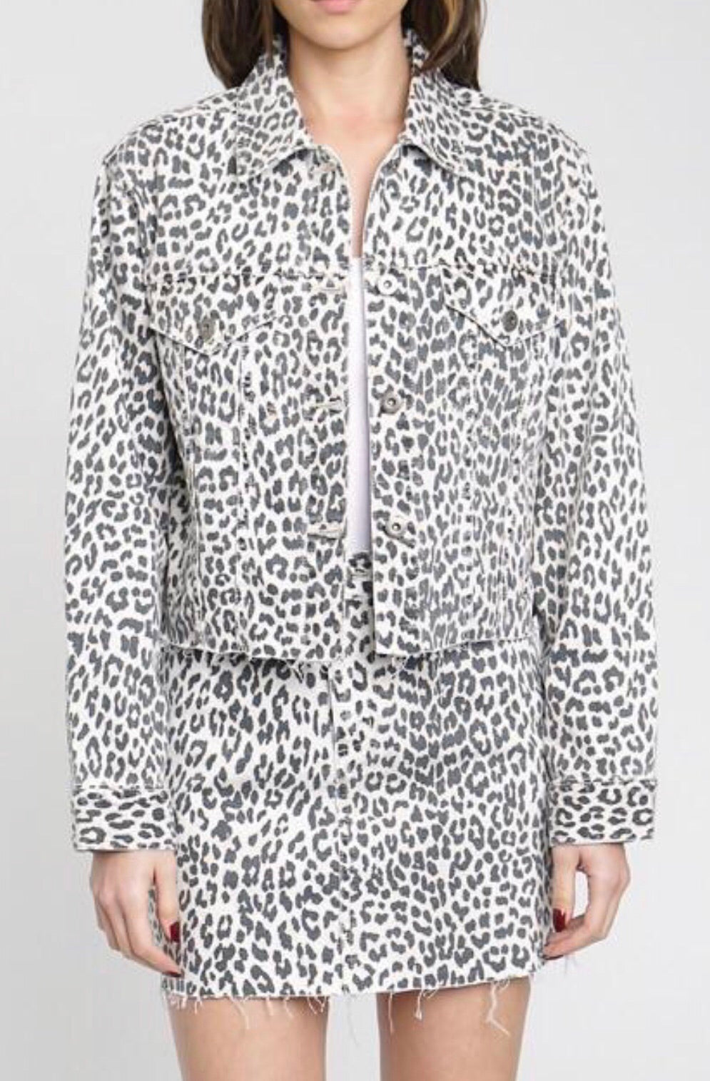 Pistola Snow Leopard Cropped Jacket