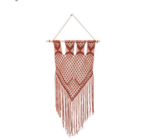 Macrame Cotton Wall Hanging- Burnt Orange