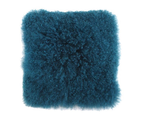 "Mongolian Lamb 18"" Square Fur Pillow"