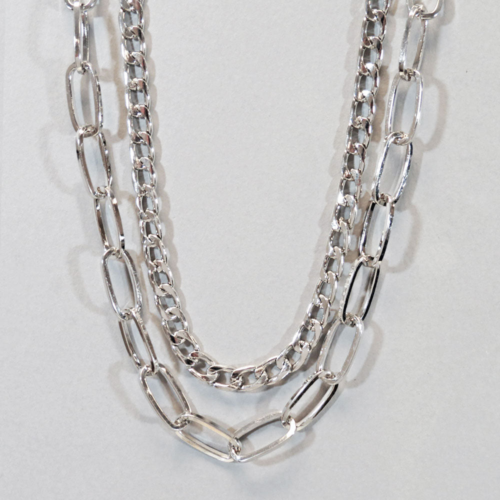 Bold Layered Chain Necklace
