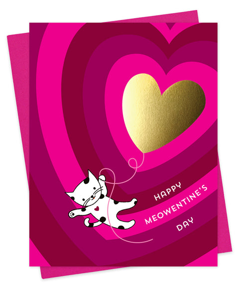 Meowentine Greeting Card