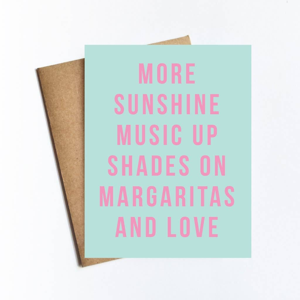 More Sunshine Music Card