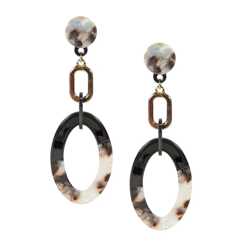 The Gabby Oval Hoop Earrings