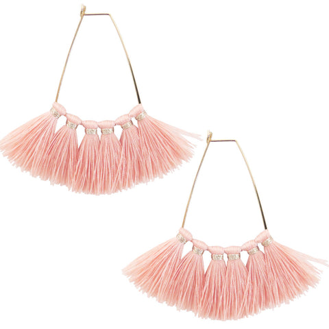 Two Squared Tassel Earrings