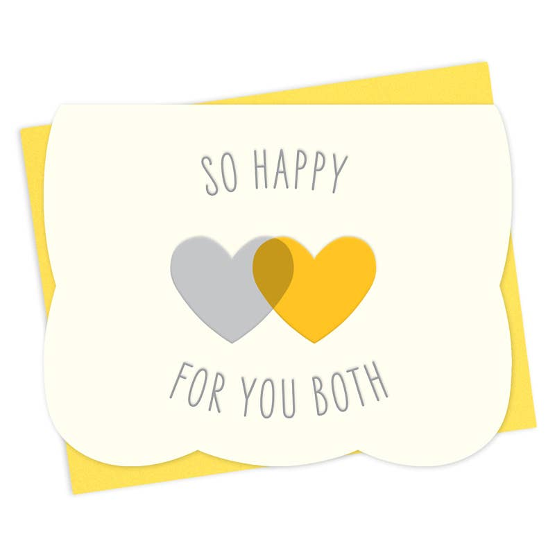 Two Hearts Letterpress Congratulations Card