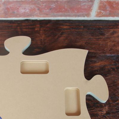 Puzzle Piece Picture Frame Wooden Customized Knoot Designs