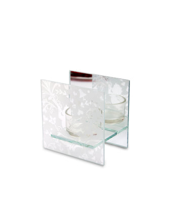 Square Mirrored Tealight Silver From Heart and Home