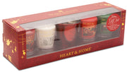 Votive Gift Pack sets (4 x wax votives & 1 x RED Glass Votive) From Heart and Home