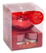Tealight Holder Gift Set Snow Angel and 4 x Christmas Spirit From Heart and Home