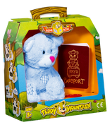 Bear In A Box by Teddy Mountain - Baby Blue Patches Bear