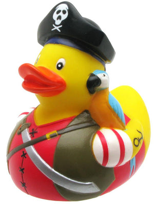 Pirate with Parrot Rubber Duck From Yarto