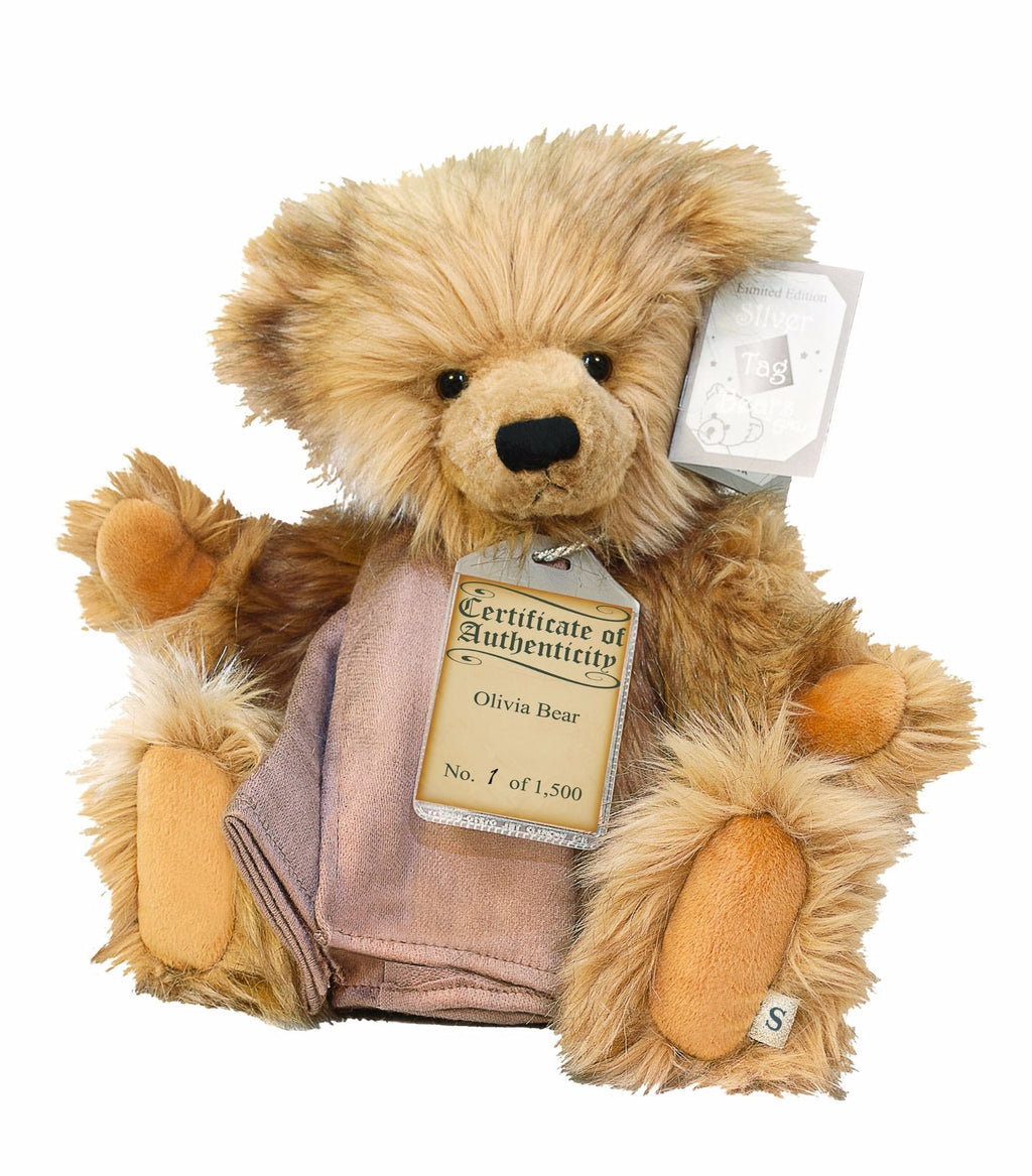Silver Tag Series 1 Olivia Bear Collectible Limited Edition Teddy from Suki