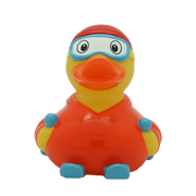 Orange Skier Rubber Duck By Lilalu