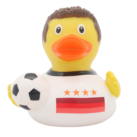 Soccer Player Rubber Duck with 4 stars By Lilalu