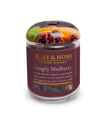 Simply Mulberry - Small Candle - From Heart and Home