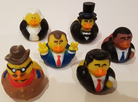 Presidential Rubber Duckies - Pack of 6 Ducks