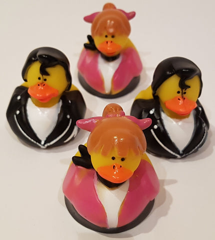 50's Style Rubber Duckies - Pack of 4 Ducks