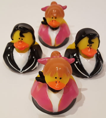 50's Style Rubber Duckies - Pack of 24 Ducks