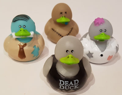 Zombie Rubber Duckies - Pack of 4 Ducks