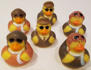 Aviator Rubber Duckies - Pack of 6 Ducks