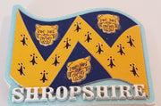Ceramic Fridge Magnet - Shropshire Flag