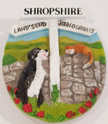 Ceramic Fridge Magnet - Shropshire Sign Post